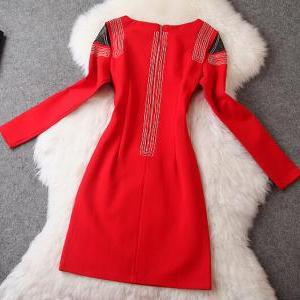 Fashion Beads long sleeve dress PL1..