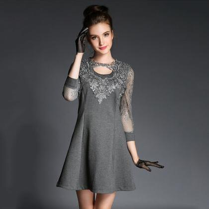 Sexy lace stitching dress 1665254