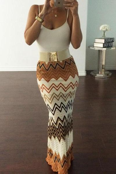 Women's Sexy Multicolor Print Skirt OM160983