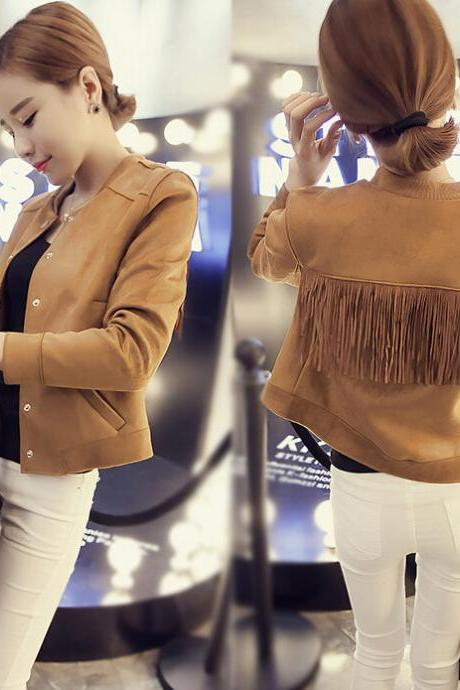 Fashion tassel long-sleeved jacket 9271053