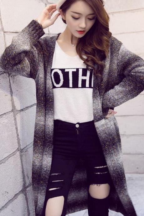 Fashion stitching cardigan sweater 4463208