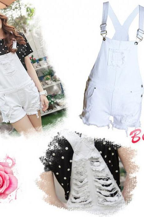 White hole loose Jumpsuits 9027101
