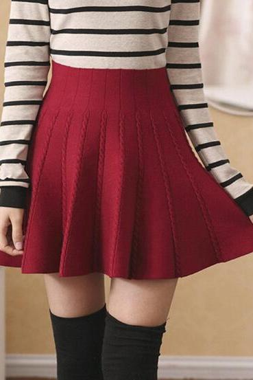 Fashion high waist knit skirt 7256184